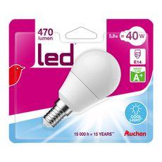 Auchan led mini sphérique bulb 40W equi couleur froide