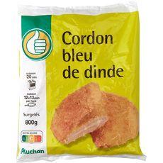 AUCHAN ESSENTIEL Cordon bleu de dinde 8 pièces 800g