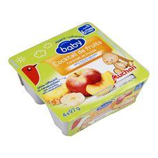 AUCHAN BABY Auchan baby Petit pot dessert cocktail de fruits dès 6 mois 4x97g 4x97g