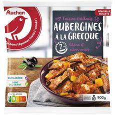 AUCHAN Aubergines à la grecque 3 portions 900g