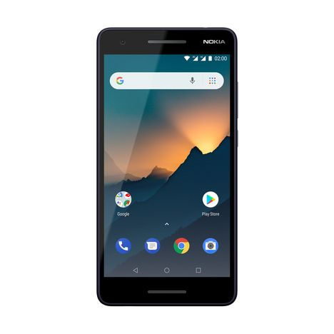 NOKIA Smartphone - 2.1 - 8 Go - Bleu gris - Double SIM - 4G