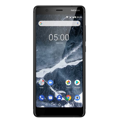 NOKIA Smartphone - 5.1 - 16 Go - Noir - Double SIM - 4G