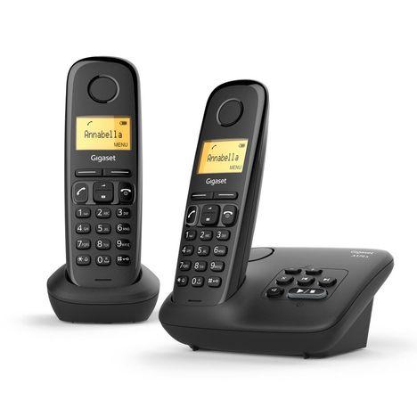 GIGASET Téléphone fixe - AL170A - Duo - Noir - Répondeur