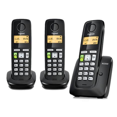 GIGASET Téléphone fixe - AS 350 Trio - Noir