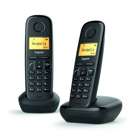 GIGASET Téléphone fixe -  A170 Duo - Noir