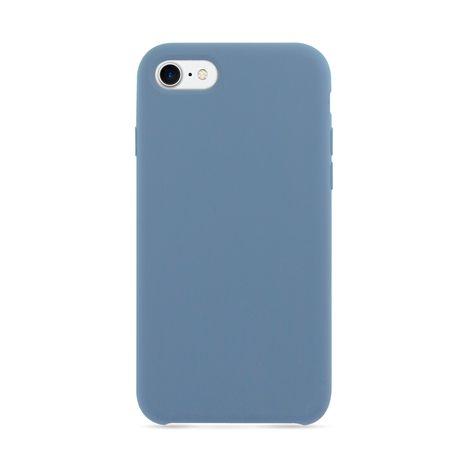 MOXIE Coque BeFluo pour Iphone 7/8 - Bleu acier - Polycarbonate et silicone
