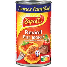 Zapetti ravioli pur boeuf sauce tomate cuisinée 1.2kg