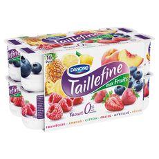 Taillefine 0% yaourt allégé aux fruits panaché 16x125g