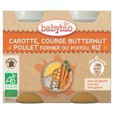 Babybio carotte courge butternut poulet riz 2x200g dès 6mois