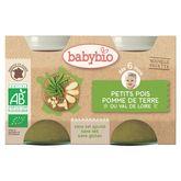 Babybio pomme de terre petits pois 2x130g dès 6 mois