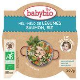 Babybio Babybio Assiette méli mélo de légumes saumon riz dès 15 mois 260g