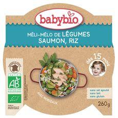 Babybio Assiette méli mélo de légumes saumon riz  dès 15 mois 260g