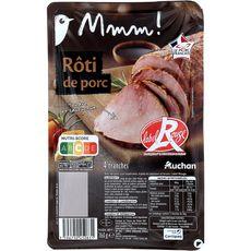 AUCHAN MMM! Rôti de porc label rouge 4 tranches 160g