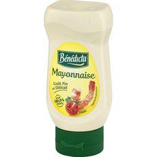 Bénédicta Mayonnaise goût fin et délicat en squeeze top down 235g