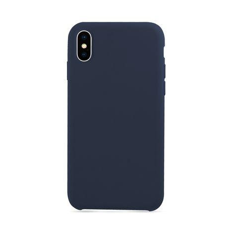 MOXIE Coque BeFluo pour Iphone X - Bleu foncé - Polycarbonate et silicone