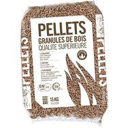 Pellets granulés de bois 100% résineux ENplus a1 din+ 15kg
