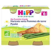 HiPP Hipp Petit pot haricots verts pommes de terre poulet bio dès 6 mois 2x190g