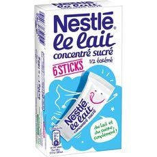 Nestlé lait concentré sucré sticks x6 - 180g