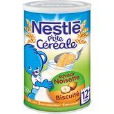 Nestlé Nestlé P'tite céréale saveur noisette biscuité en poudre dès 12 mois 400g