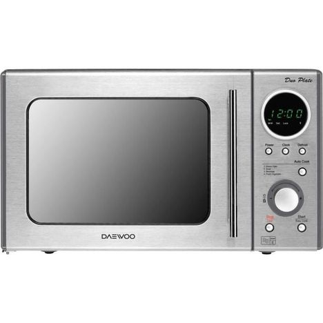 DAEWOO Micro-ondes KOR-8BMRDUO, Inox et Miroir, 800 W, 23 L