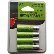 Auchan pile rechargeable HR06 2500mah x4