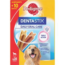 PEDIGREE Pedigree dentastix grand chien x18+10offert -1.080kg