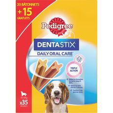 PEDIGREE Pedigree dentastix chiens moyen x20 +15gts -900g