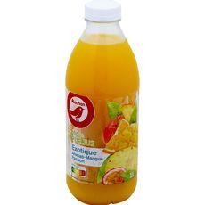 AUCHAN Pur jus d'ananas et mangue passion 1L