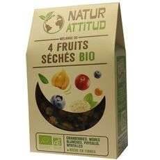 Naturatitud mélange de 4 fruits séchés bio 200g
