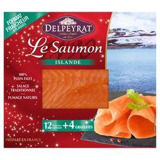 PIERRE DELPEYRAT Delpeyrat saumon fumé d'Islande tranche x12 +4offertes 460g