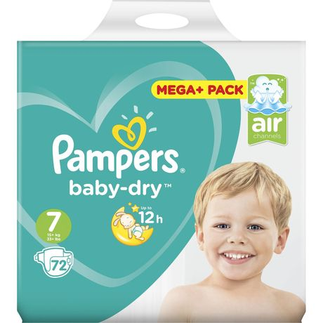 Pampers Baby Dry mega x72 taille 7