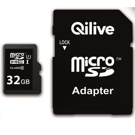 QILIVE Q.8513 - Micro SDHC - 32 Go - + Adaptateur - Carte mémoire