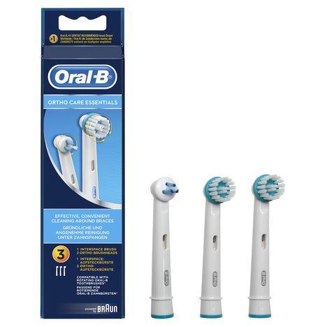 ORAL B Lot de 3 Brossettes Kit Orthodontique