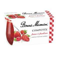 BONNE MAMAN Compotée de fraises et framboises et fleur de sureau 2x130g