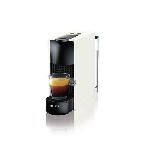 KRUPS Cafetière à dosettes Nespresso Essenza Mini XN1101, Blanche/noire