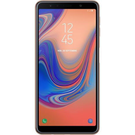 SAMSUNG Smartphone - Galaxy A7 - 64 Go - 6 pouces - Or - Double SIM - 4G
