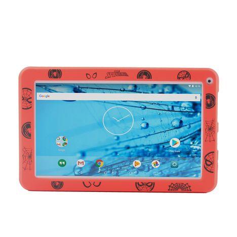 QILIVE Tablette tactile 899827 Blanc + Housse Spiderman Blanc