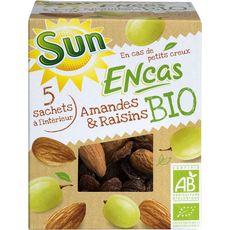 Sun Encas amandes et raisins bio 150g