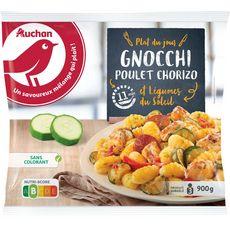 AUCHAN Gnocchi au poulet et chorizo 900g