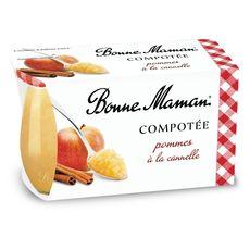 BONNE MAMAN Compotée de pommes à la canelle 2x130g