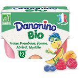 Danone Danonino bio petit suisse fruits panaché 12x50g