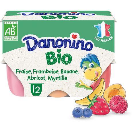 Yaourts aux fruits bio Danonino