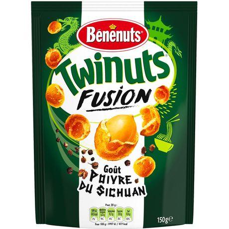 Cacahuètes goût poivre du Sichuan Twinuts Fusion BENENUTS 150g