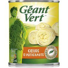 Géant Vert coeurs d'artichauts 240g