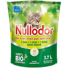 Nullodor Litière bio agglomérante sans odeur pour chat 3,7l