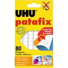 Uhu Pastilles patafix adhésives blanche x80