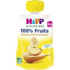 Hipp bio gourde pomme poire banane 90g dès 4/6 mois