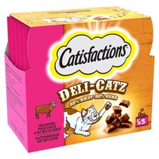 CATISFACTIONS Catisfactions Friandises deli-catz au boeuf pour chat 25g 25g