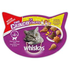WHISKAS Whiskas Barquette friandises trio crunchy volailles pour chat 55g 55g