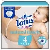 Lotus Lotus baby Natural touch couches taille 4 (7-14kg) x38